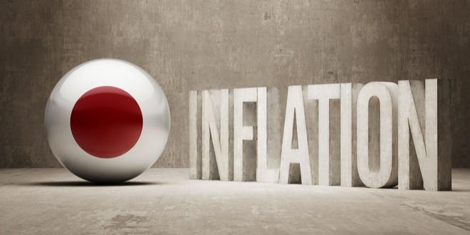 التضخم، اليابان، الين