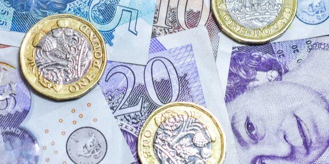 الحساب الجاري، بريطانيا، الجنيه الإسترليني